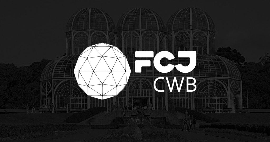 foto da cidade de curitiba com o logo da FCJ Venture Builder - CWB por cima